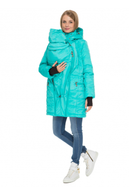 """Куртка зимняя 3 в 1 """"Мадейра"""" бирюза"""
