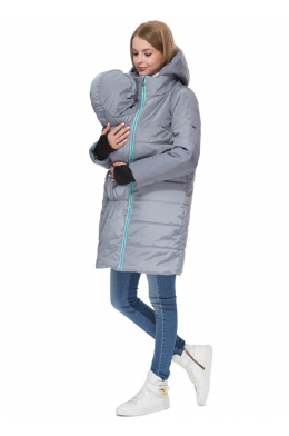 Слинговставка мятно-серая к зимней куртке