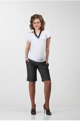 Блуза белая с коротким рукавом