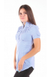 Блузка бело-синяя для беременных