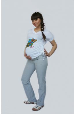 Брюки серые для беременных
