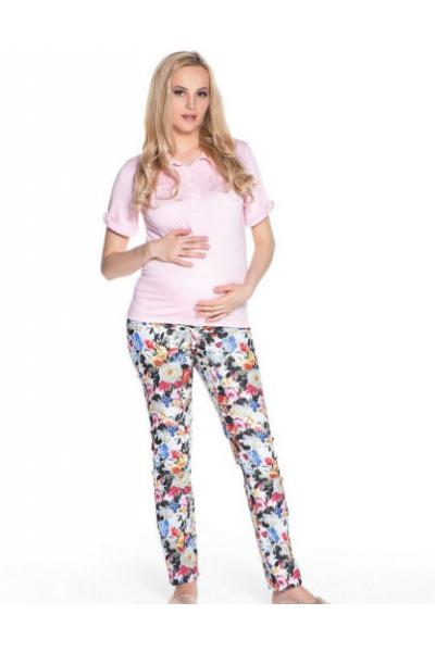 Брюки для беременных Цветочный принт