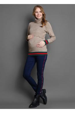 Джинсы для беременных со вставкой по бокам