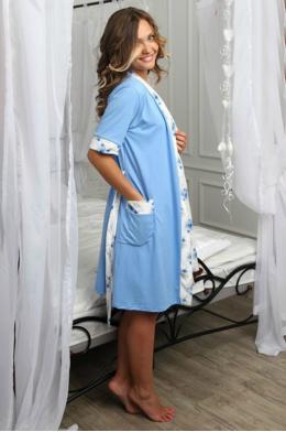 Халат Jane голубой для беременных
