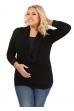 Кофточка черная для беременных и кормящих