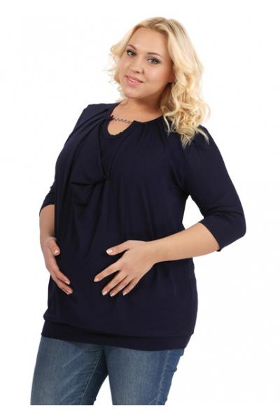 Кофточка т-синяя для беременных и кормящих