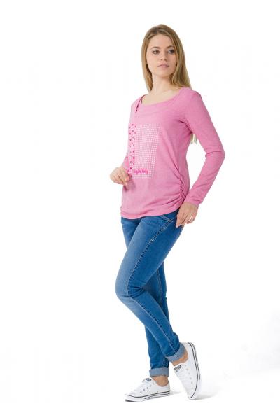 """Лонгслив """"Тутси"""" розовый для беременных и кормящих"""