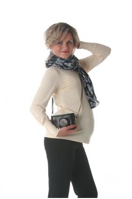 Водолазка молочная для беременных