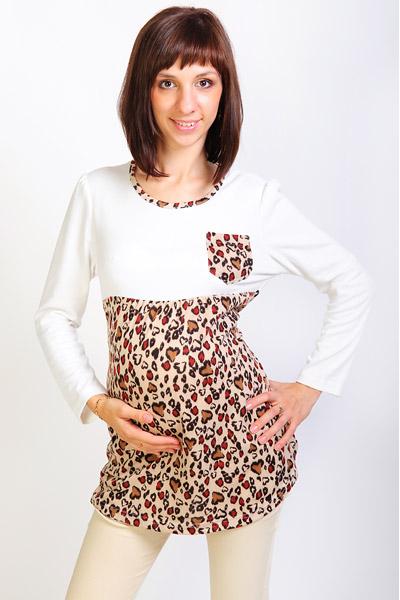 Туника леопардовая для беременных