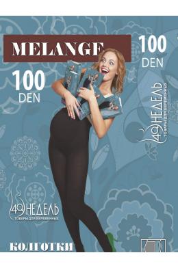 Колготки Melange 100 den черный меланж