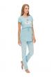 """Пижама """"Уют"""" голубая для беременых и кормящих"""