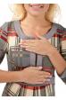 """Платье """"Кьяра"""" бежевое для беременных и кормления"""