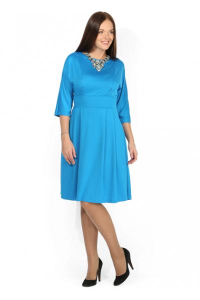 Платье голубое для кормления