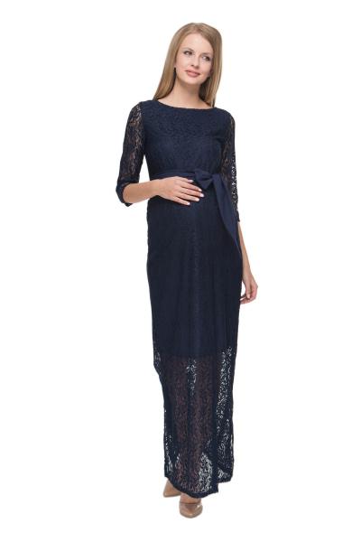 """Платье """"Дебора"""" синее для беременных"""