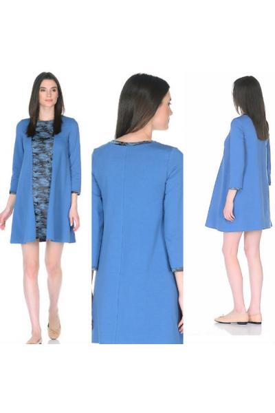 Платье для беременных и кормящих темно-синие