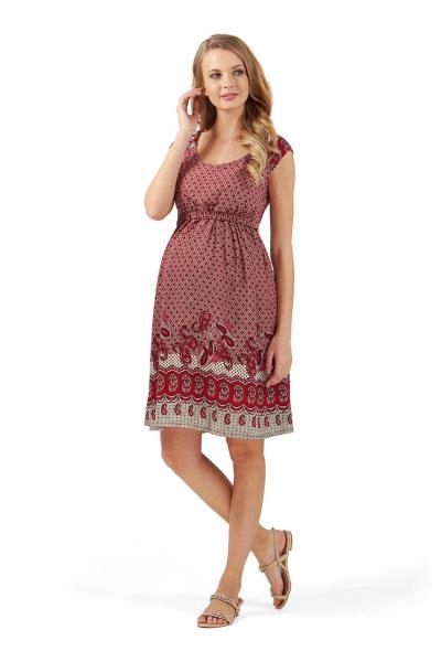 """Платье """"Павлина"""" бордовое для беременных и кормящих"""