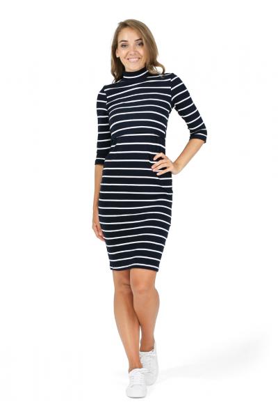 """Платье """"Сюзанна"""" т-синее для беременных и кормящих"""