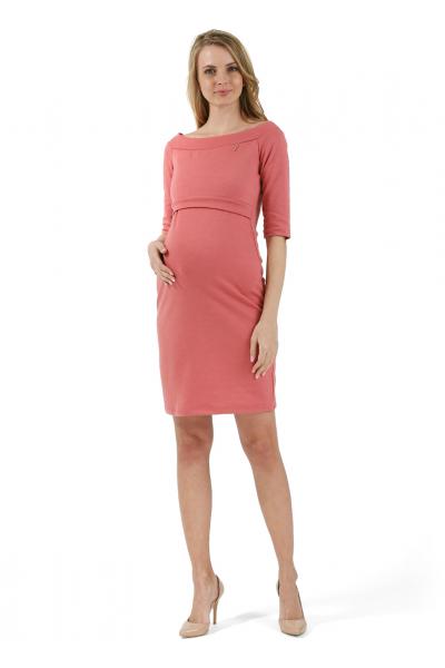 """Платье """"Валери"""" чайная роза для беременных и кормящих"""