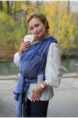 Слинг-шарф Diva Ezzenza Azzurro Linen со льном