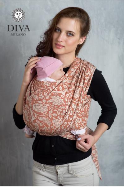 Слинг-шарф Diva Milano Roze Spezia со льном и коноплей