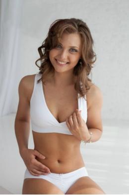 Топ Anna Sport белый до- и послеродовой