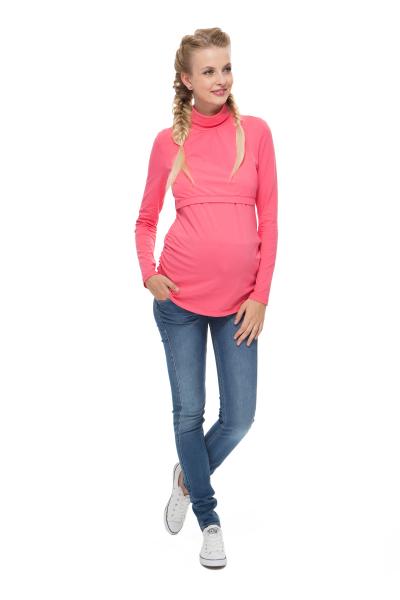 """Водолазка """"Гламур"""" розовая для беременных и кормящих"""