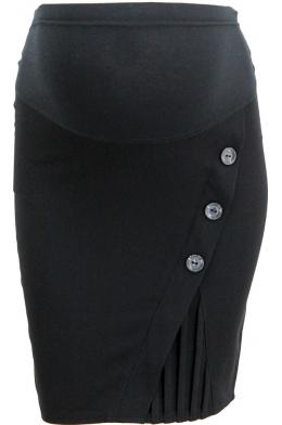 Юбка классическая черная для беременных